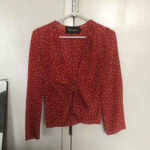 Red Sexy Starry Realisation top
